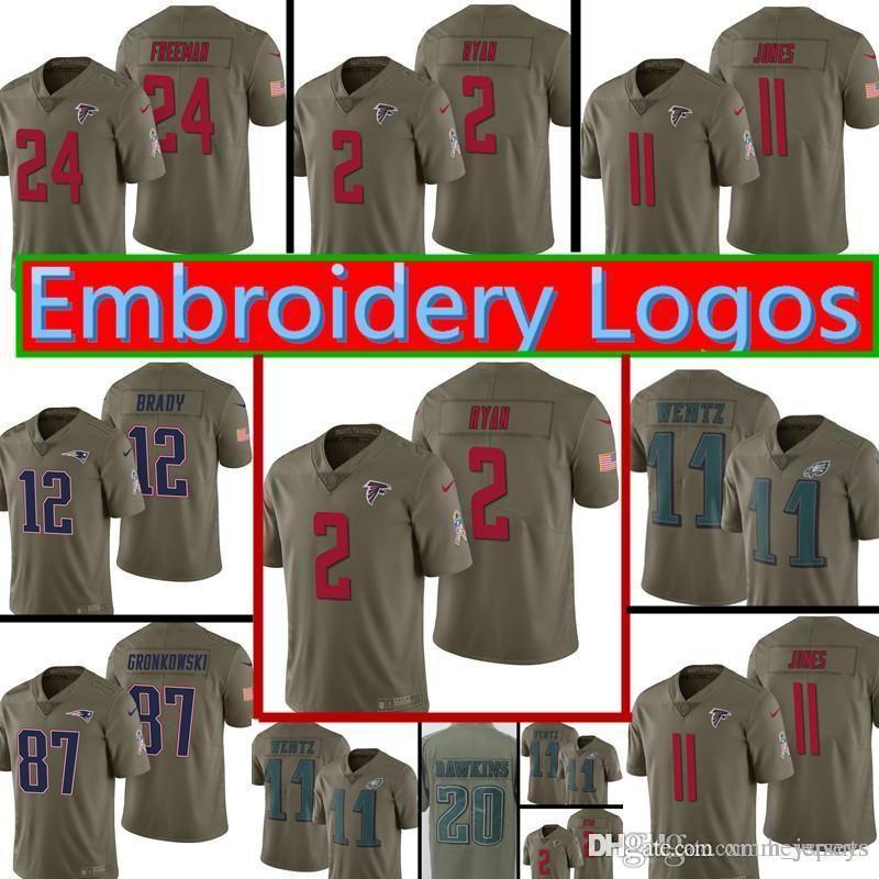 new concept 6c782 69321 2017 Salute to Service Atlanta Falcons Jersey Mens 2 Matt Ryan 11 Julio  Jones 24 Devonta Freeman Football Jerseys M-XXXL