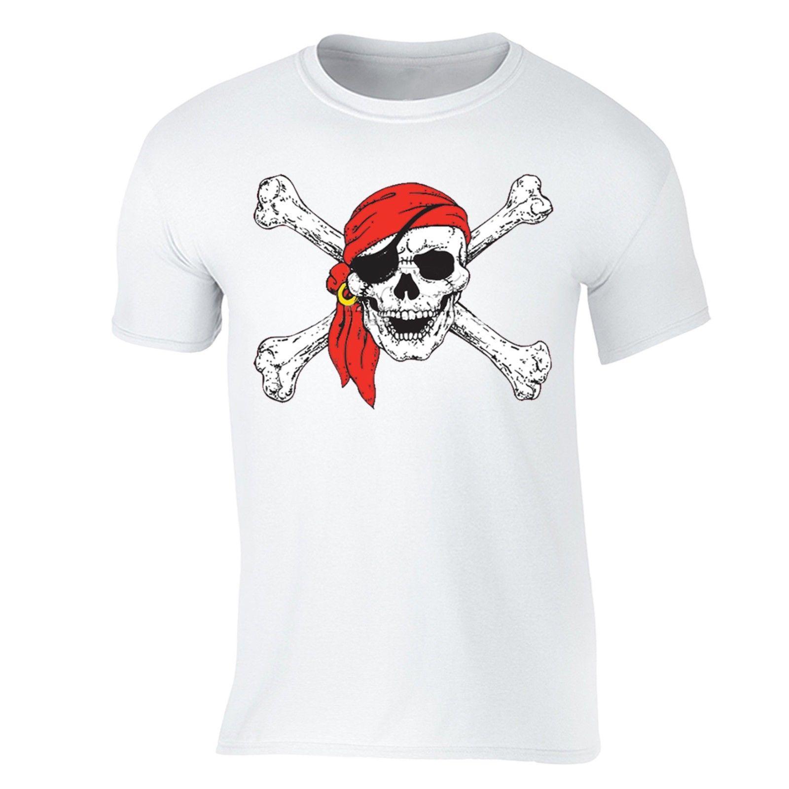b767842ea179 Jolly Roger Skull & Crossbones T Shirt Pirate Flag Shirt Military Navy  Tshirt Jersey Print T Shirt Brand Shirts Jeans Print Art T Shirts The Who T  Shirt ...