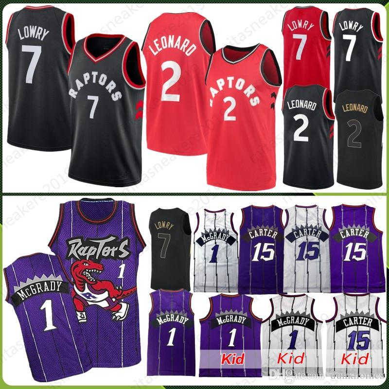 2019 Toronto 2 Leonard Kawhi Jersey Raptors 7 Lowry Kyle 15 Carter Vince Tracy  McGrady 1 Anfernee Penny Hardaway Retro Men Kid Stitched Jerseys From ... 477292320