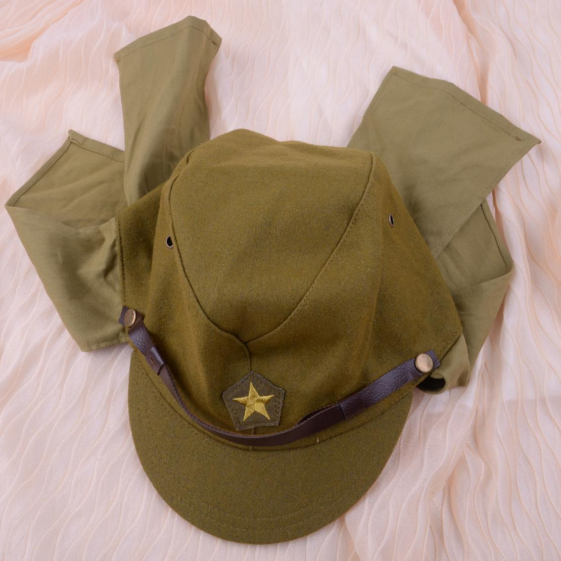 Hats Caps Military Hats Green Officer Field Wool World War II WW2 Japanese  Army Soldier Hat Cap Military Costume Accessory For Men