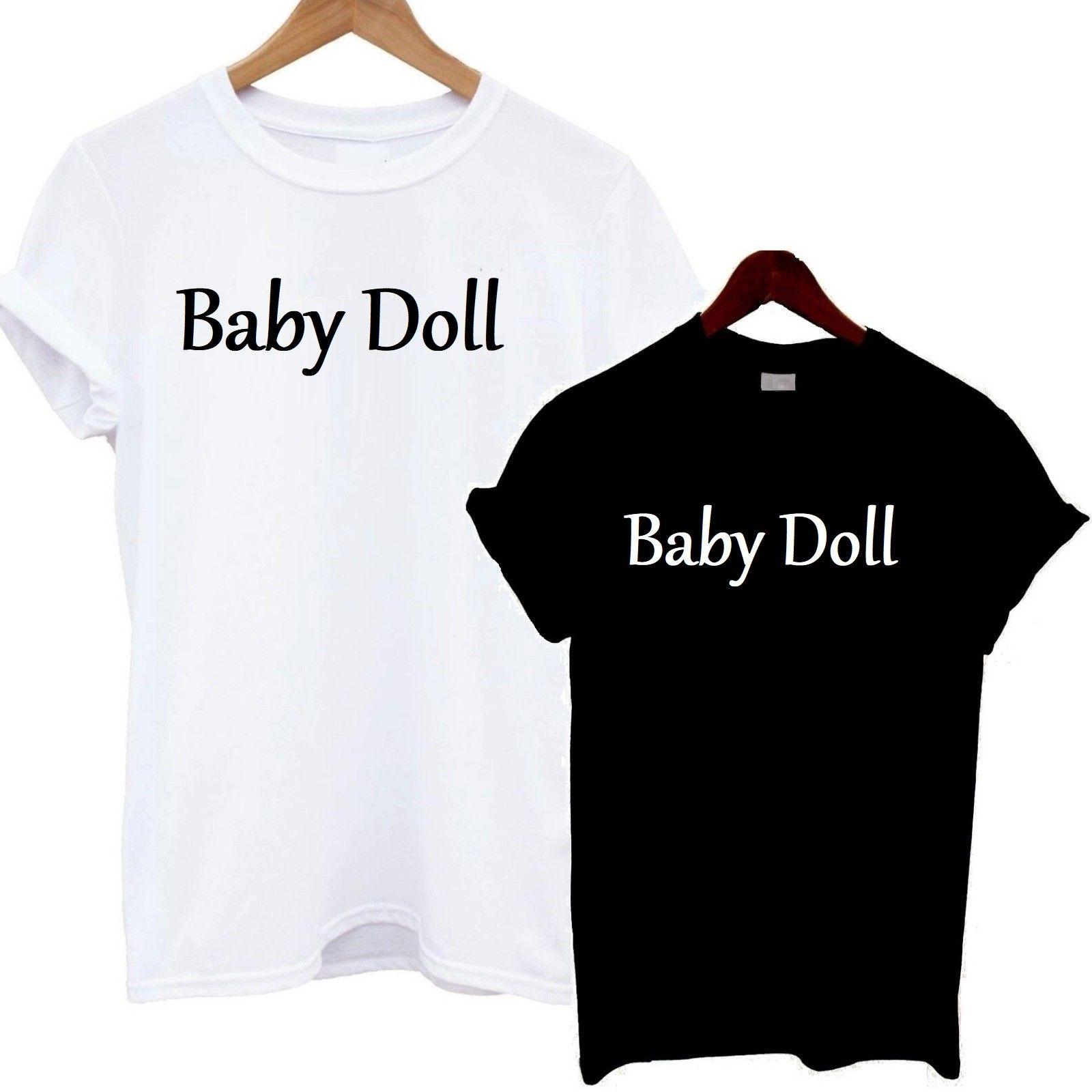 e5a464e927e9 Baby Doll T Shirt Tee Top Slogan Tshirt Girl Statement Funky Sexy Hot Cute  LoveFunny Unisex Casual Tshirt Top Ot Shirts Best Designer T Shirts From ...