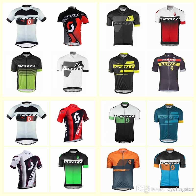 9d7d405cb Maillot Ciclismo 2019 Summer Cycling Jersey Team Scott Short Sleeve Racing  Tops Road Bike Shirts Breathable Quick Dry Mtb Sportswear C3103 Cycle  Clothing ...