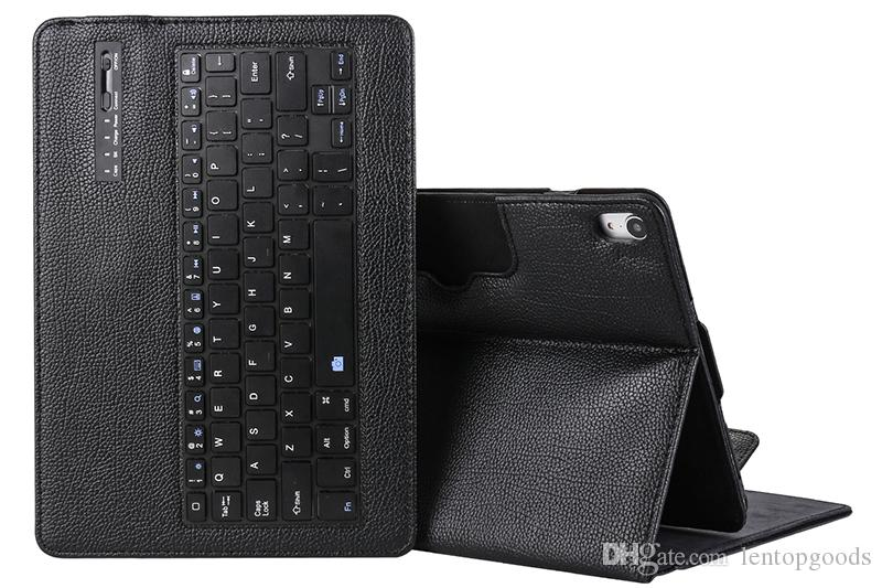 Detachable Wireless Bluetooth Keyboard with Litchi Leather Smart Case Cover for Apple iPad Pro 11 A1979/A1980/A1934/A2013 Tablet+Stylus