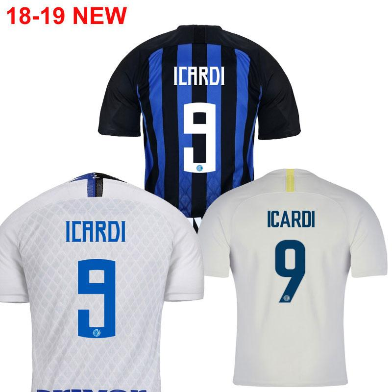 7bc75a87c8c3b 18 19 Inter Home Away LAUTARO NAINGGOLAN Camisetas De Fútbol Camisetas  2018 2019 ICARDI PERISIC NAINGGOLAN Uniformes De La Camiseta Camisetas  Futbol Por ...