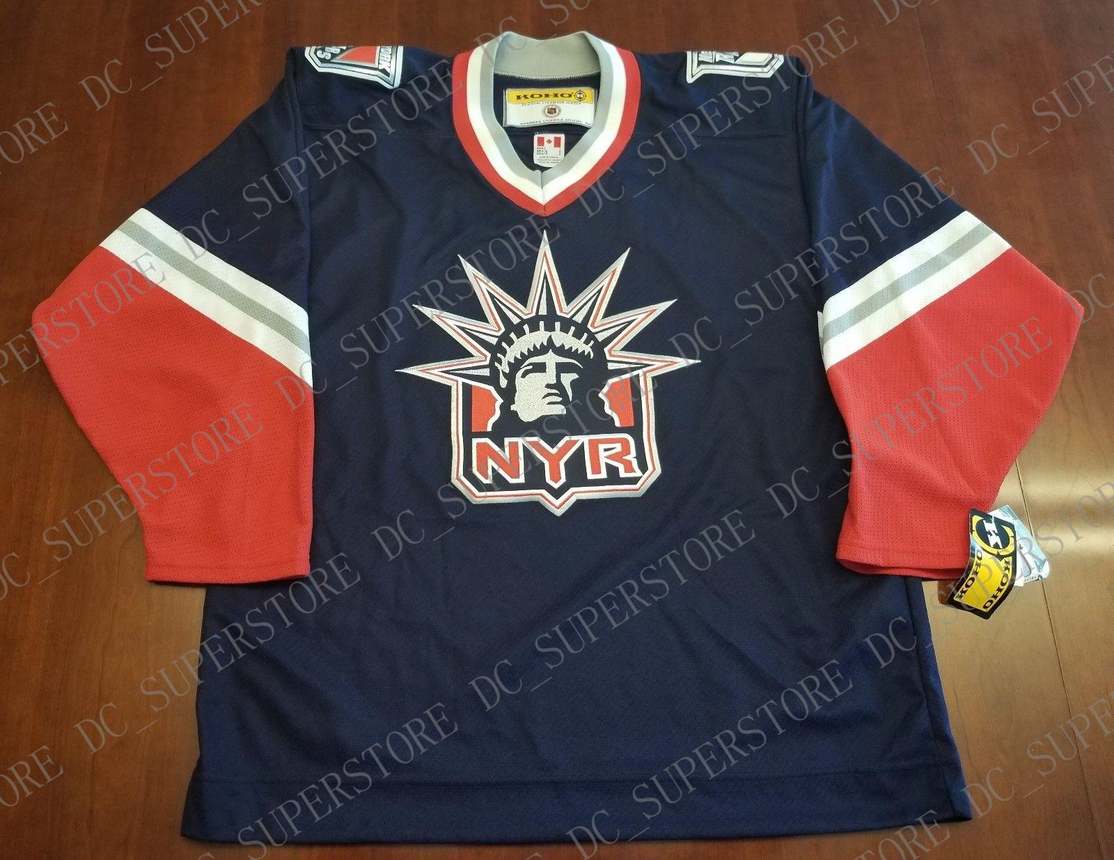 big sale ea8eb e289d Cheap custom New York Rangers Vintage Koho Third Jersey Lady Liberty NEW  Stitched Retro Hockey Jersey Customize any name number XS-5XL