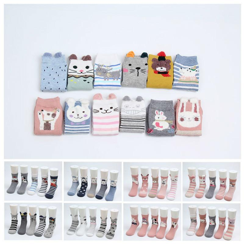5 pairs/lot baby boy socks toddler girl Soft Cotton Kids Sport Socks Breathable Cartoon Boys Sock Children Socks Infant
