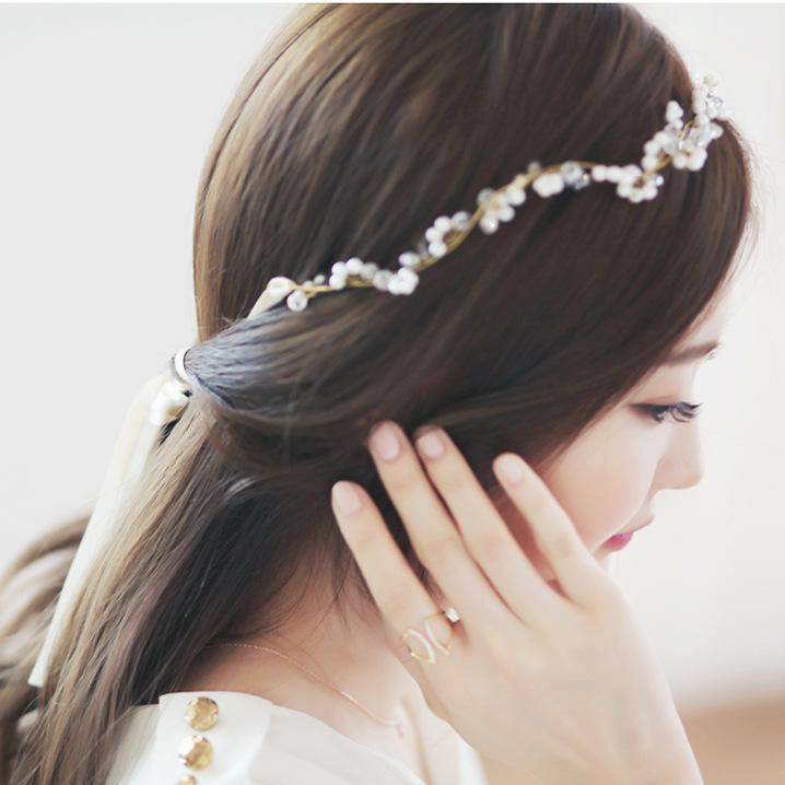 Fashion South Korean Hair Accessories Handmade Crystal Beads