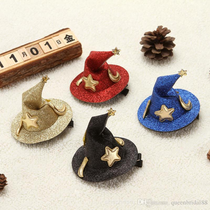 Halloween Decorations Halloween Hot Sale Wizard's Hat Hair Ornament Head Accessories Hairpin Clip for Special Occasion Day