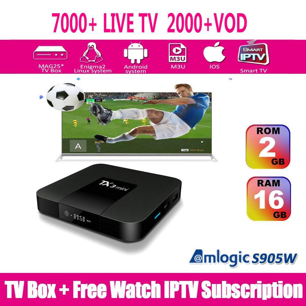 IPTV Subscription Arabic IPTV Sports CA UK Spain IT GE Latino Europe 7000  LIVE TV Abonnement IPTV French Italy VOD 2000 Set Top Box
