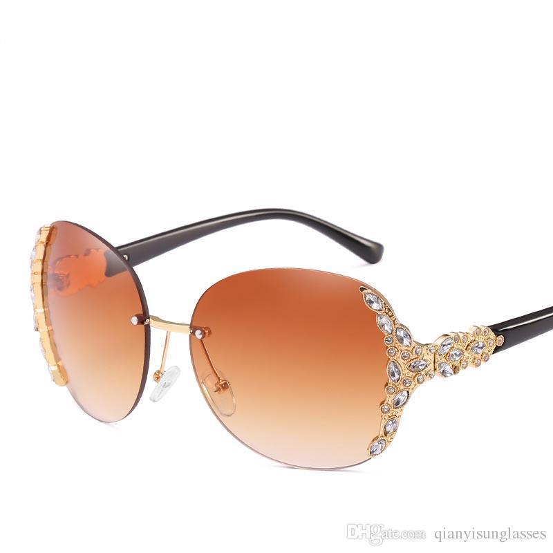 0ff28d04b63 Compre Gafas De Sol De Diseñador Para Mujeres. Modelo De Diamante. Moda  Europea Y Americana. A  3.41 Del Qianyisunglasses