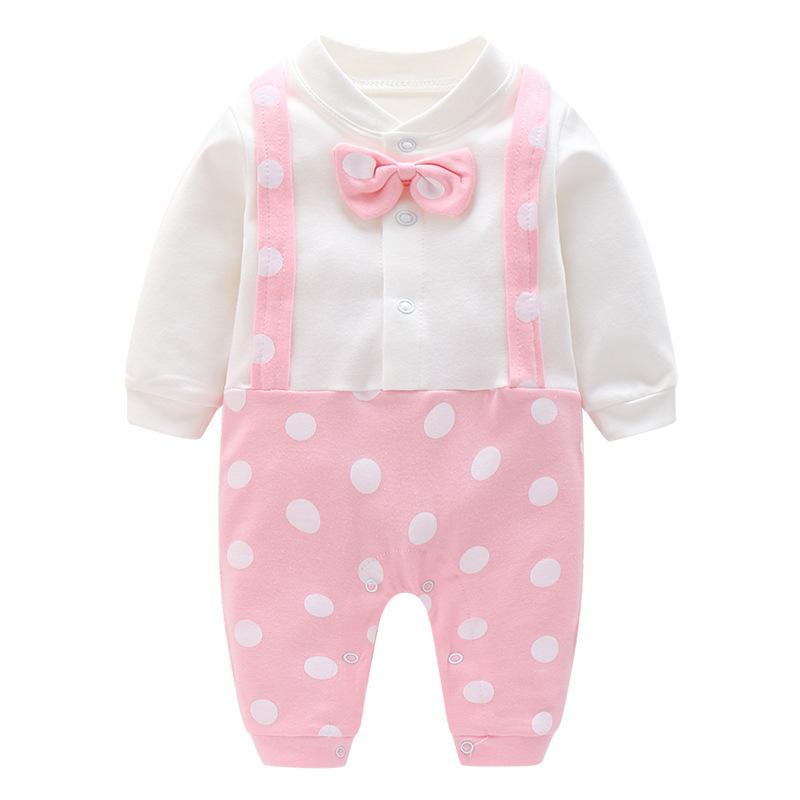 60c794ec47d4 Quality Newborn Baby Boys Girls Romper Spring Autumn Jumpsuit White Playsuit  Outfits Boy Girl Cotton Rompers Round Neck Clothes Online with  37.89 Piece  on ...