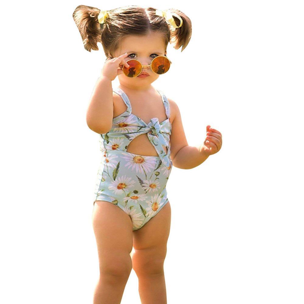cceac4414120f 2019 Children Swimwear For Girls Cotton One Piece Swimsuit Kids ...