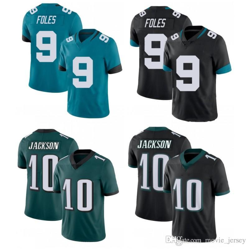 sports shoes 943ad e23ec New 9 Nick Foles Jaguars jersey Blue White Green Philadelphia 10 DeSean  Jackson Eagles Jacksonville 2019 New Jaguars Football Jerseys