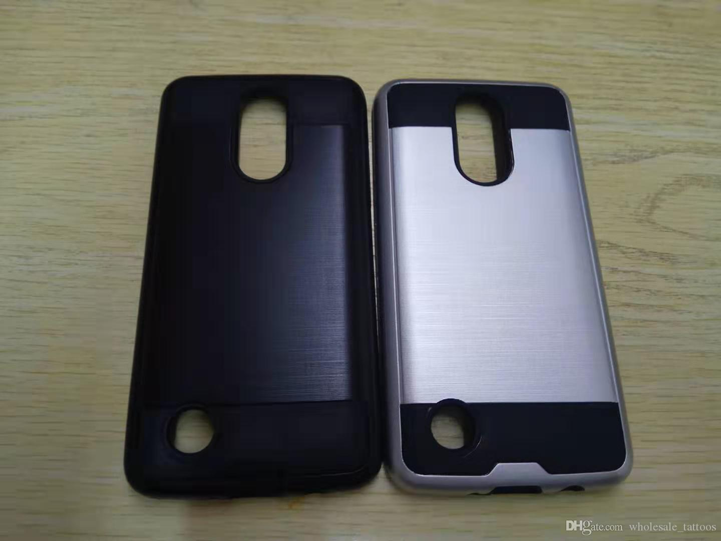 Armor Hybrid Brushed Case For LG Rebel 2 TPU PC Luxury Brushed Cover In  stock High quality