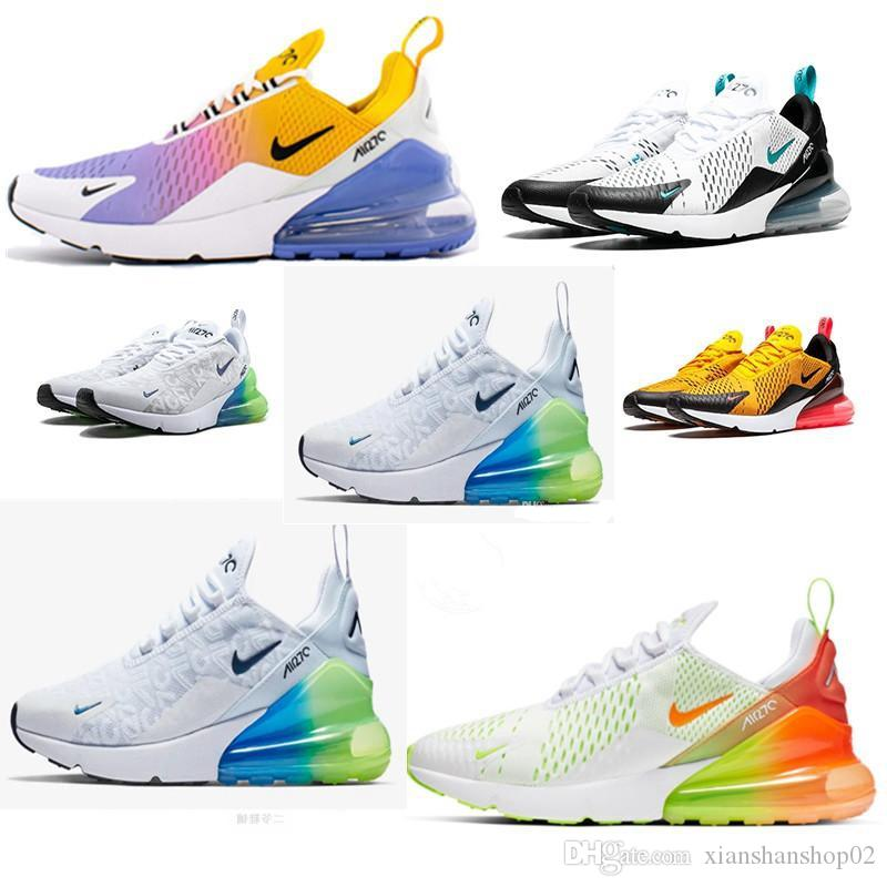 nike air vapormax max 270 Off white Flyknit Utility Uomo Donna Allenatore BE TRUE Hot Punch Triple Nero Bianco Oreo Teal Photo Blue Designer Sneakers
