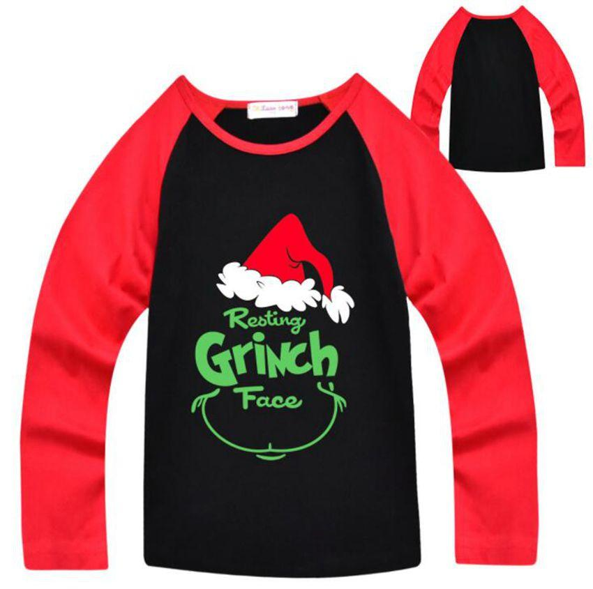 2dc306ff 2019 Kids Grinch T Shirts Boys Girls How The Grinch Stole Christmas T Shirt  Movie Long Sleeve Grinch T Shirt New Year Gifts KKA6368 From B2b_life, ...