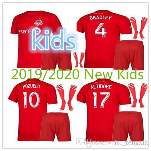 brand new e89b6 d0a7e 19 20 Kids GIOVINCO soccer jersey Toronto FC HOME red BRADLEY ALTIDORE  OSORIO ALTIDORE MORGAN VAZQUEZ CHAPMAN Kids Football Shirt Jersey Kit