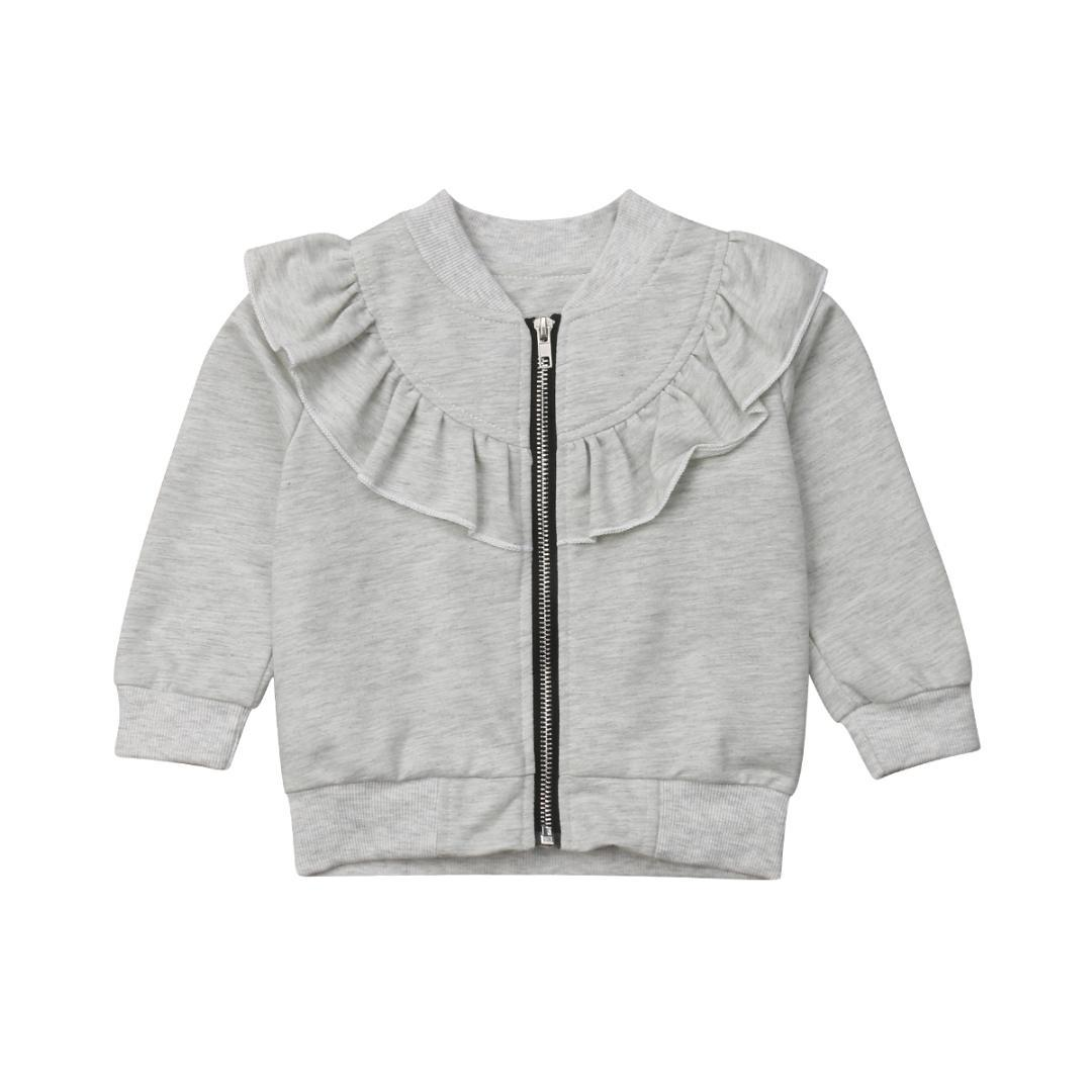 ba9d50f85332 1-5Years Kid Girls Ruffles Jacket Toddler Baby Girls Cotton Tops Outerwear  Coat Clothes