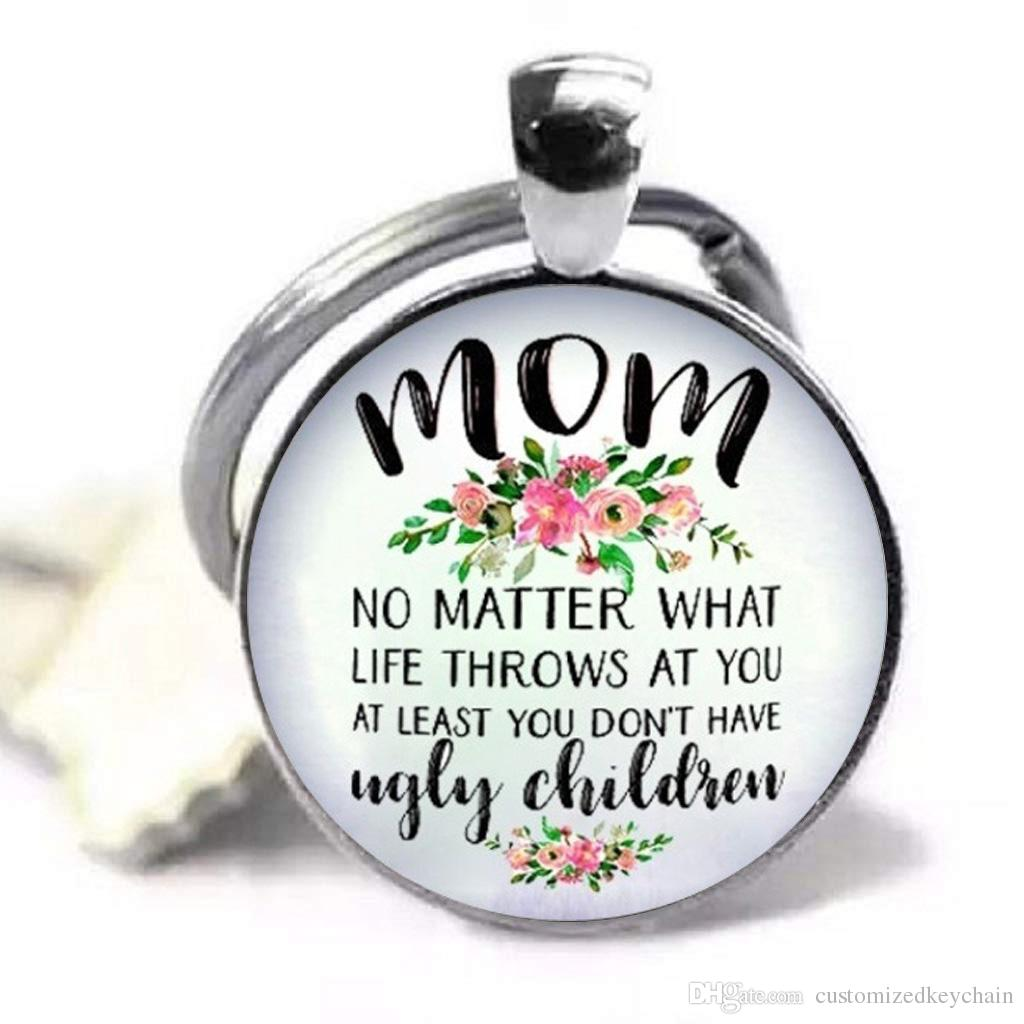 Best Mom Forever Jewelry Key Chain Fun Mothers Ring Moms Birthday Gift Day Gifts