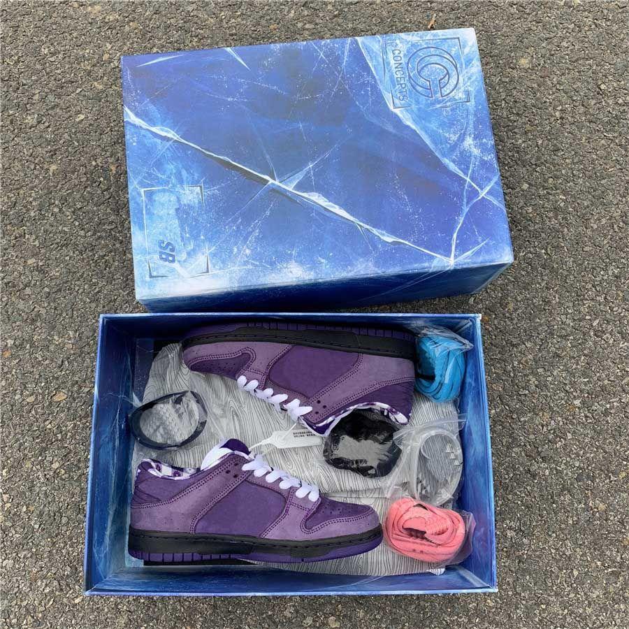 sports shoes 7b7ff be15d Großhandel Konzepte X SB Dunk Low Pro QS Skateboard Schuhe Lila Hummer  CNPTS Diamant Su 2019 Modedesigner Casual Sportschuhe Von Mabelshoes,   72.49 Auf De.