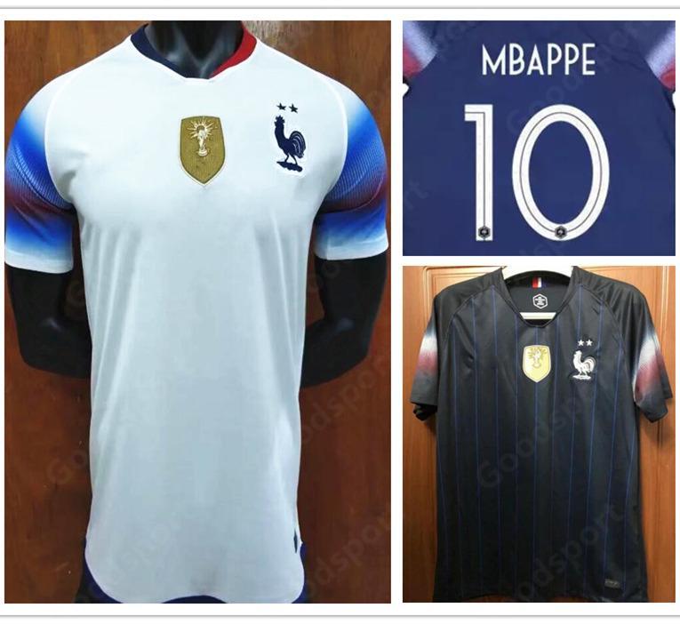 Compre 2020 2 Estrelas Camisa De Futebol GRIEZMANN 7 POGBA 6 MBAPPE 10  Calcio Fútbol Camisas Futebol MARTIAL KANTE DEMBELE Campeão Da Copa Do  Mundo De ... 1c4aef0902ea4
