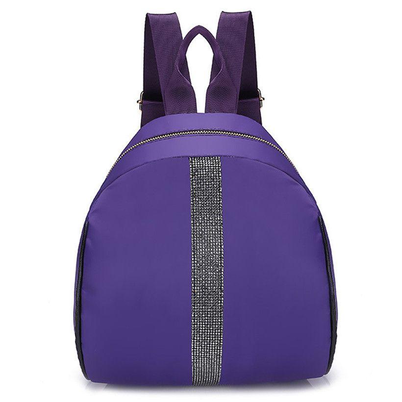Personality Backpacks Women New Trendy Hit Color Travel Rucksacks Fashion  Student Shoulder School Bags Nylon Backpack
