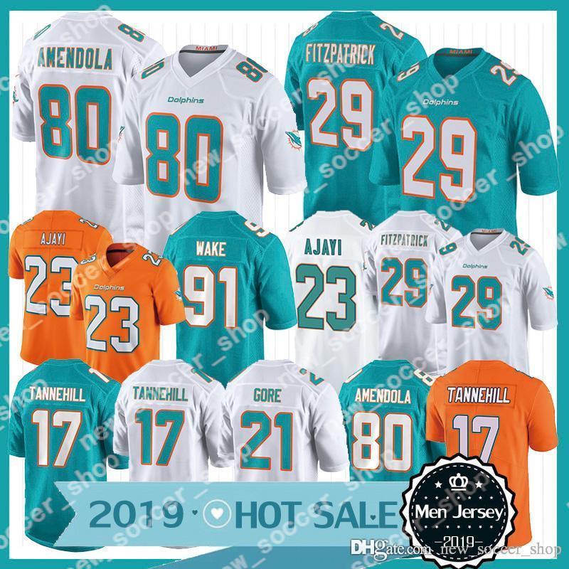 online store 29ddf ed855 Miami New Dolphins Jersey 29 Minkah Fitzpatrick 80 Danny Amendola 91  Cameron Wake 17 Ryan Tannehill 23 Jay Ajayi 13 Dan Marino Jerseys