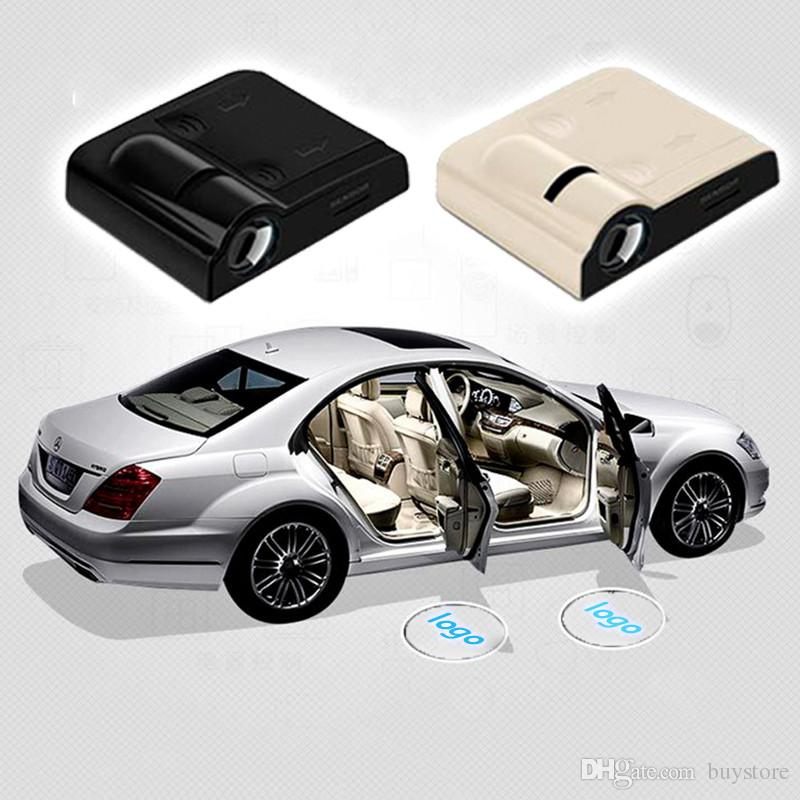 Wireless Led Car Door Welcome Laser Projector Logo GhosShadow Light for Volkswagen Ford BMW Toyota Mercedes-Benz Mazda VW Free Shipping