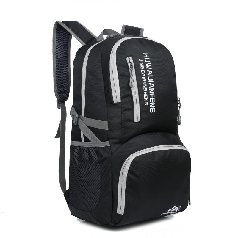 Sports & Entertainment Waterproof Nylon Outdoor Breathable Mountaineering Bag Folding Backpack Wear Shoulder Bag Diamond Lattice Climbing Bags