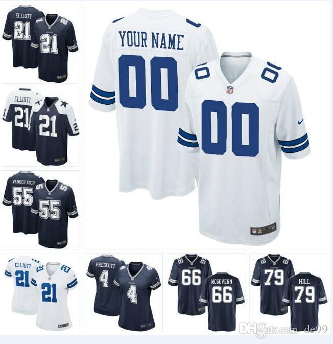 brand new 9cca3 334e1 Dallas Dak Prescott Cowboys Jersey Ezekiel Elliott Jason Witten Michael  Gallup Cole Beasley custom american football jerseys new fashion