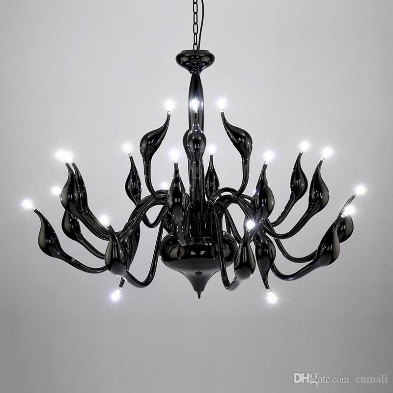 Deco European Swan Chandeliers Candle Crystal LED Chandelier Ceiling Bedroom Living Room Modern Decoration G4 Lighting