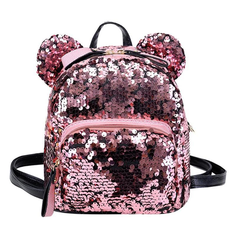 2d434e264086 Shining Women Sequins Backpacks for Teenage Girls Travel Large ...