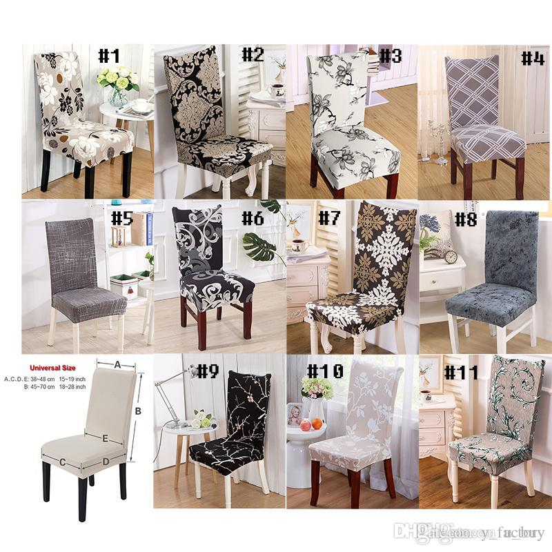 Factory Spandex Stretch Dining Chair Coves Machine Washable For Restaurant Weddings Banquet Hotel Cover Fundas De Sillas Elasticas Sofa Protector