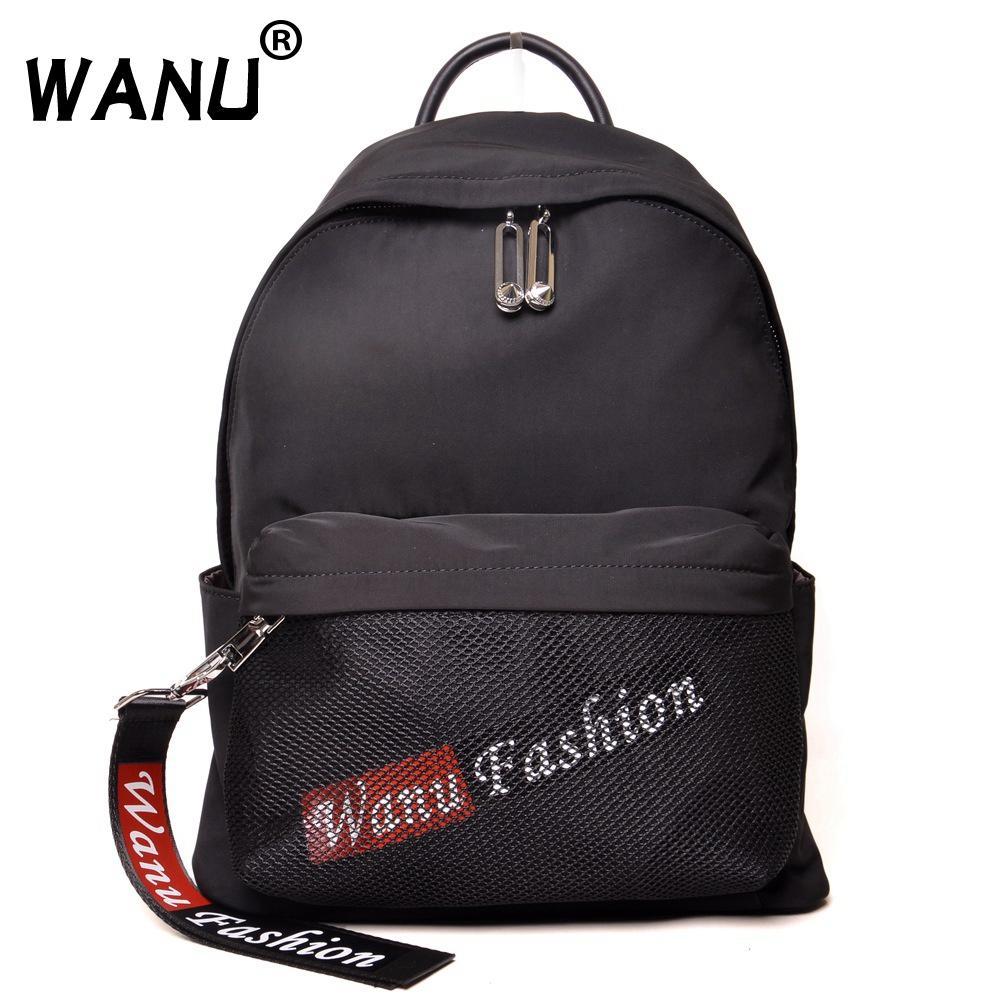 c37eac50d0 WANU Fashion Waterproof Oxford Backpacks for Women Black Luxury Back ...
