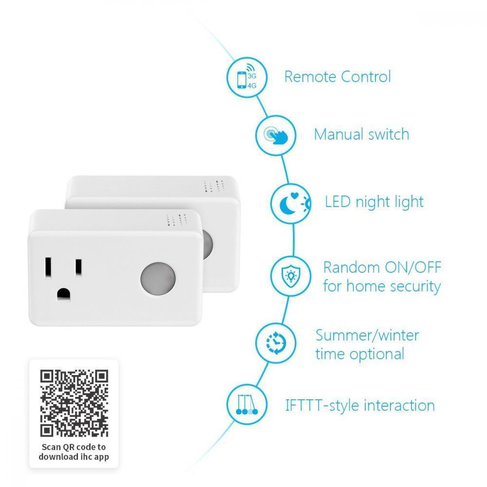 Broadlink SP3 WiFi Smart Socket Power Plug US EU Adapter for Alexa Google  Home Android IOS APP Remote Control Wireless Outlet