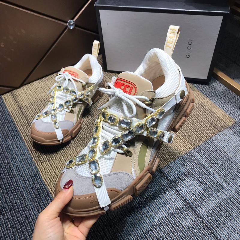 Acheter Luxueux Brun Marron Flashtrek Haut Sneaker Hommes