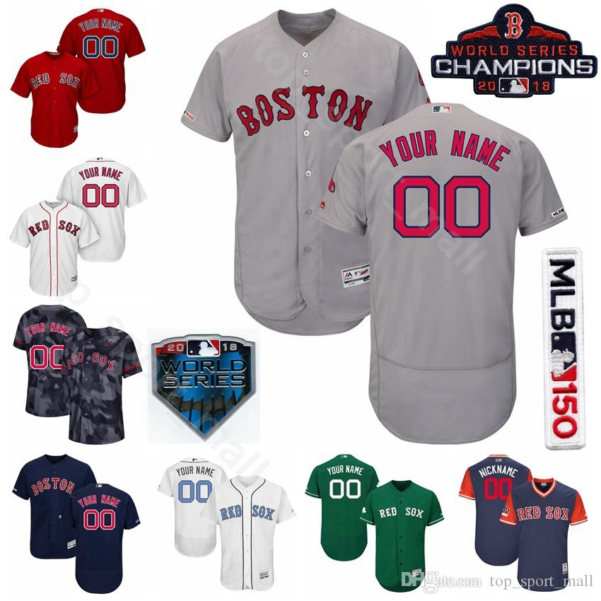 official photos dd8f0 c172f Boston Baseball Red Sox 16 Andrew Benintendi Jersey 50 Mookie Betts 28 JD  Martinez 11 Rafael Devers 19 Jackie Bradley Jr. Custom Name