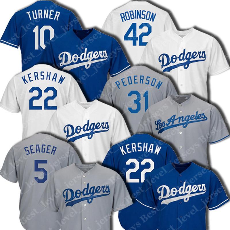 best website 8d816 68035 Dodgers Jerseys Clayton Kershaw Justin Turner Hernandez Mike Piazza Jackie  Robinson Cool Base Player Jersey