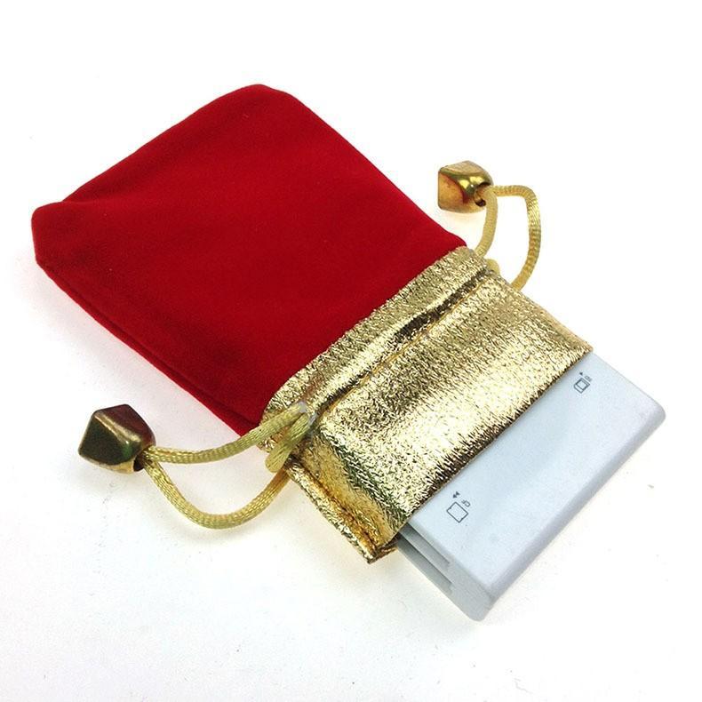 9 * 12 cm 500 adet kırmızı Phnom Penh kadife çanta takı çantası hediye çantası paketi ile İpli çanta ile düğün diy kadınlar için Ekran