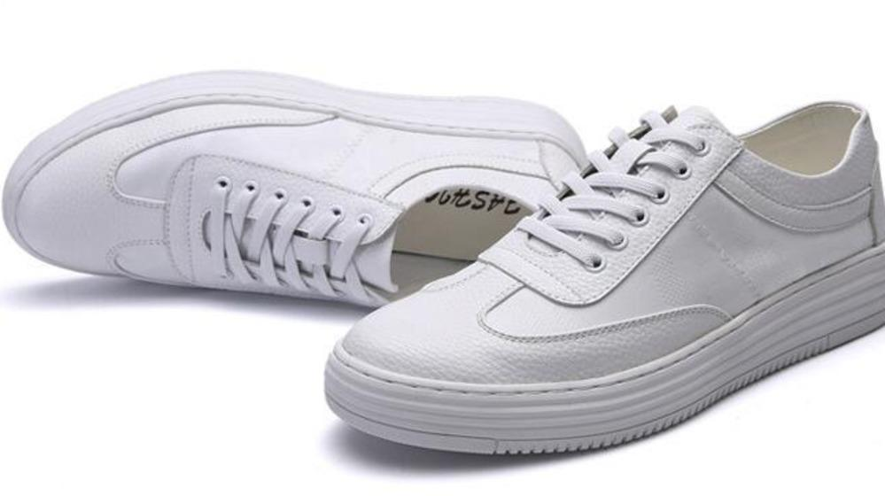 Hot men casual shoes triple white high quality comfortable lether designer shoes mens trainers sports sneakers size 40-44