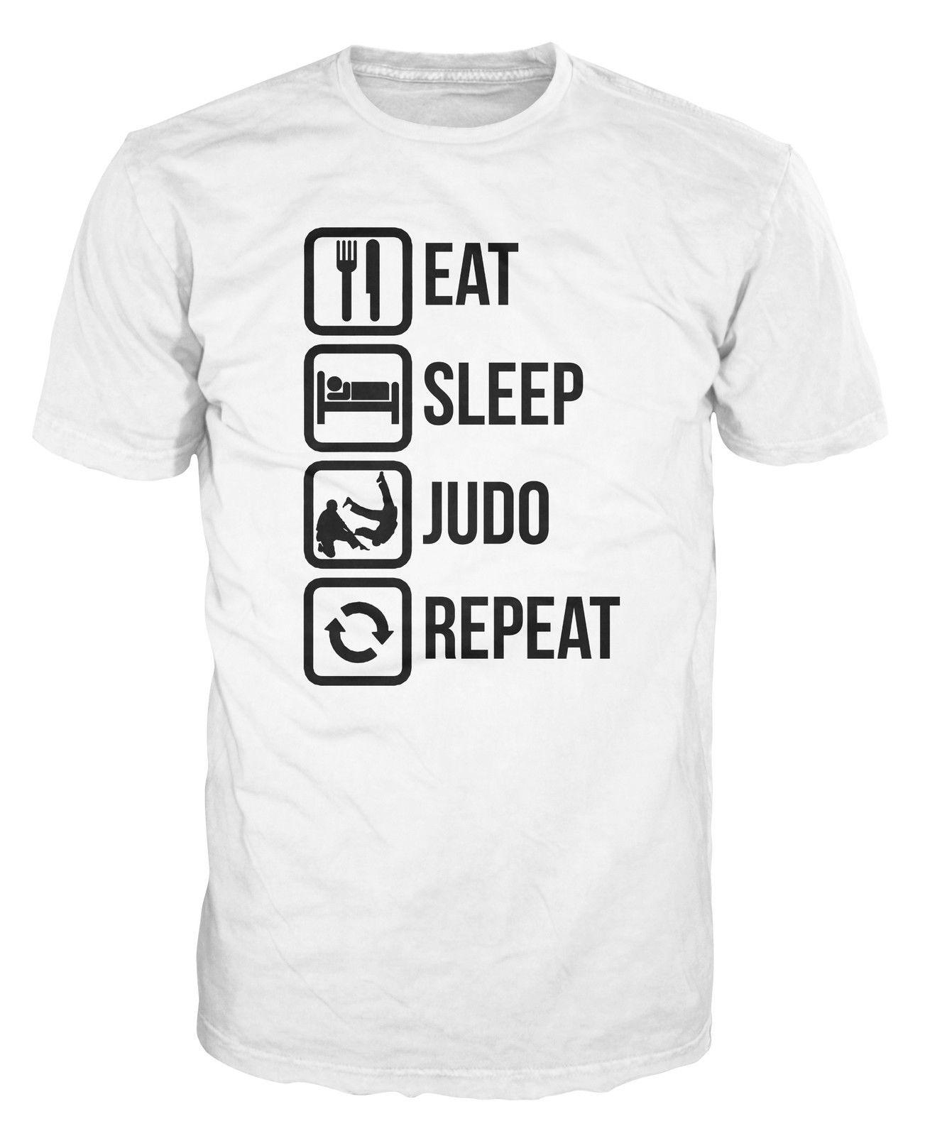 8022dcb8 Eat Sleep Judo Repeat Funny Martial Art MMA T Shirt Funny Unisex Casual Tee  Gift Top Mens Shirt Printed Shirts From Revolvertees, $12.96| DHgate.Com