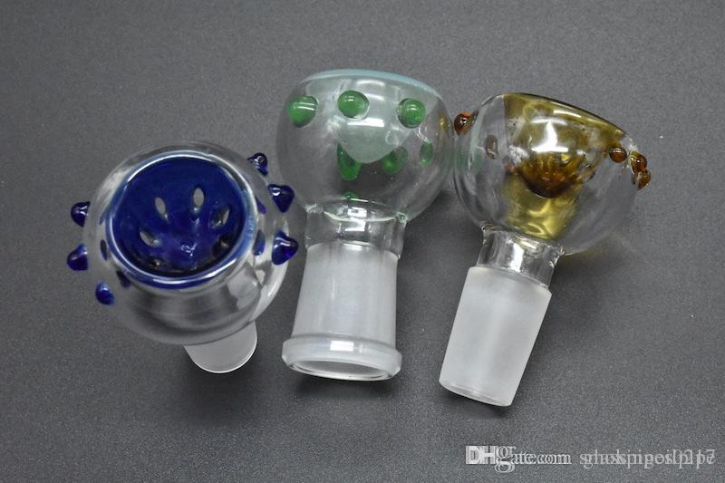 Wholesale Colored Smoking Bowl 14mm 18mm Tobacco Bowls For Glass Water Pipes Bongs Smoking Bowls Oil Rigs Glass Oil bowls
