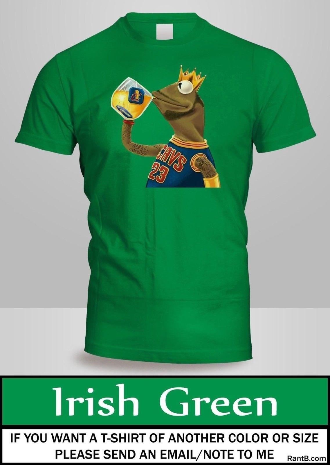 newest 90a0c 39d2e Kermit - Lebron James Cleveland cavs cavaliers t-shirt Mens Top Green Shirt  2Funny free shipping Unisex Casual Tshirt top