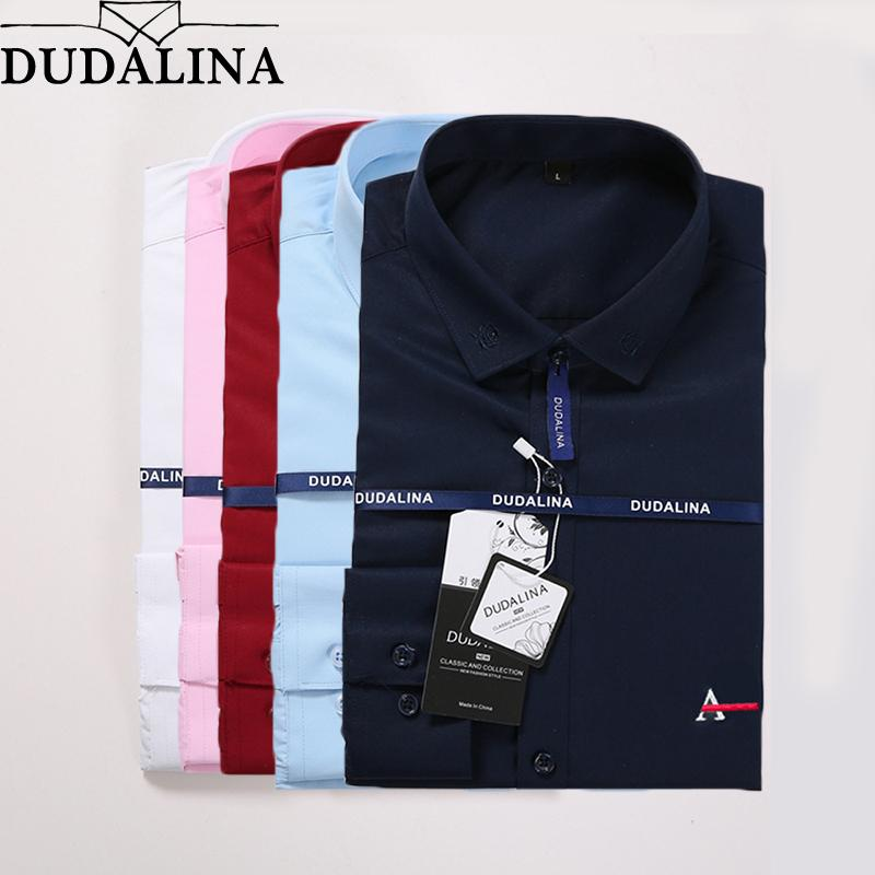 8daa786debd5 2019 Dudalina Men Shirt Camisa Social Masculina 2019 Men Shirt Embroidery  Logo Long Sleeve Business Casual Shirts Men Famous Brand J190422 From  Babala3, ...