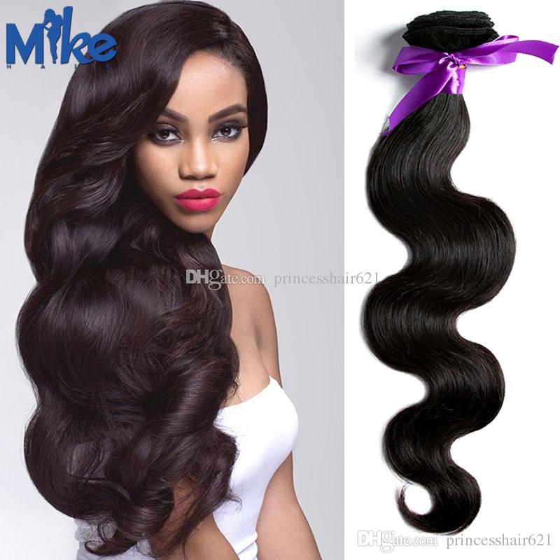 Human Hair Extension Malaysian Body Wave Hair Weave Cheap Human Hair Bundles  For Black Women MikeHAIR Products Cheap Hair Weaves Good Cheap Hair Weave  From ... 1857a99589