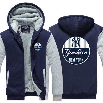 buy popular 78019 7308e 2019 winter hoody yankee new york Men women Thicken autumn Hoodies clothes  sweatshirts Zipper jacket fleece hoodie streetwear