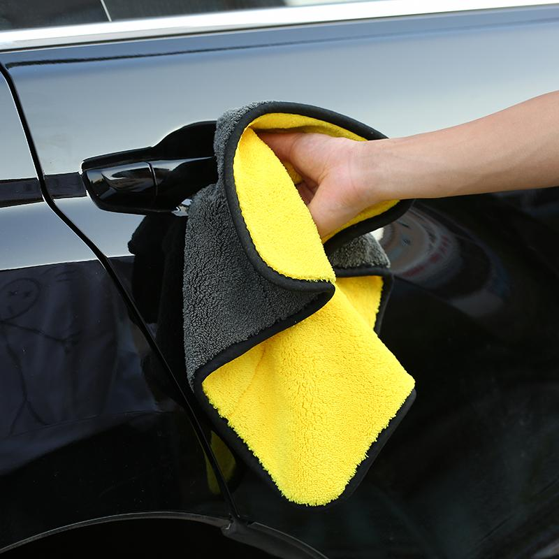 1pc/2pcs Absorbent Microfiber Towel Car Cleaning Drying Cloth Car Care Cloth Detailing Car Polishing Wash Plush Towel