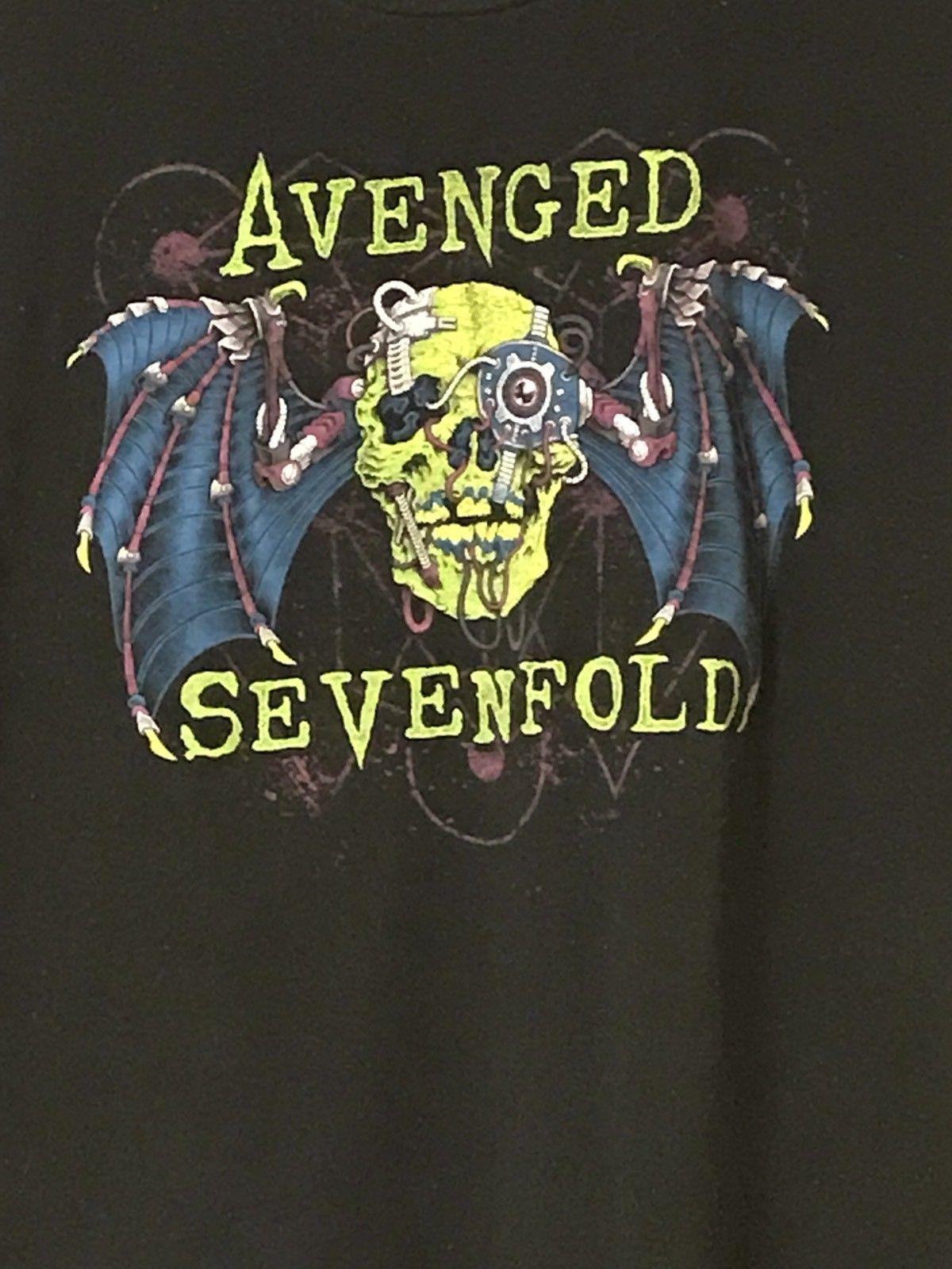 8f2b4c897 VINTAGE AVENGED SEVENFOLD BAND SKULLS BLACK T SHIRT Sz 2XL XXL A7X Cartoon T  Shirt Men Unisex New Cotton T Shirts Fitted Shirts From Cls6688521