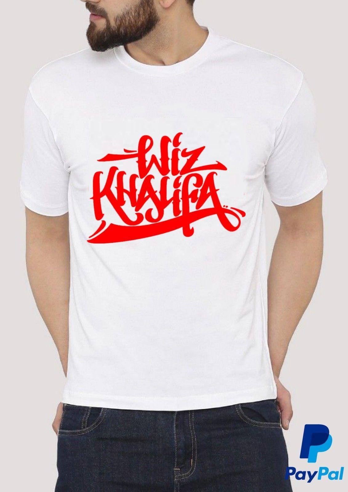 Wiz Khalifa T Shirts S 2xl Custom T Shirt Logo Text Photo Mens