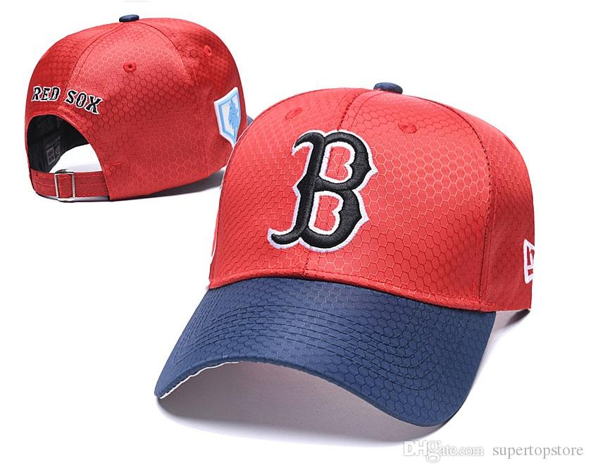 Men's Red Sox All Teams Baseball Cap Men's Women's Adjustable Cap Casual leisure hats Solid Color Fashion Snapback Summer Fall hat